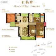 朗诗新郡3室2厅2卫143平方米户型图