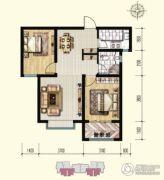 明瀚花香城2室2厅1卫85平方米户型图