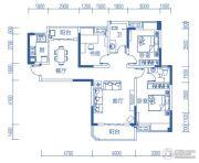 半山�庭3室2厅2卫111平方米户型图