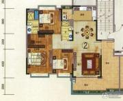 珠光流溪御景3室2厅2卫148平方米户型图