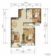 首开国风美唐2室1厅1卫92平方米户型图