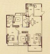 蓝湾新城3室2厅2卫0平方米户型图
