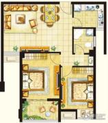 塞纳豪庭2室0厅1卫0平方米户型图