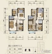 三田雍泓・青海城5室2厅3卫232平方米户型图