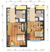 凯旋银河线1室1厅1卫54平方米户型图