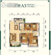 云星・钱隆世家4室2厅2卫106平方米户型图