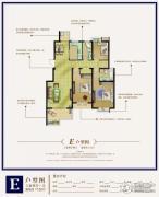 港城尚府3室2厅1卫115平方米户型图