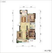东城人家2室2厅1卫0平方米户型图