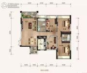 华府骏景4室2厅2卫112平方米户型图