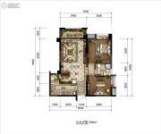 明康华庭阳光2室2厅1卫85平方米户型图