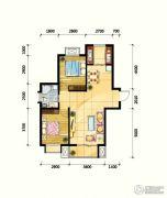 鼎旺90社区2室2厅1卫82平方米户型图