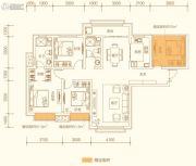 百郦湾4室2厅2卫140平方米户型图