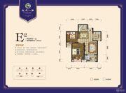 龙庭一品2室2厅1卫88平方米户型图