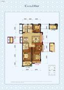 中国铁建・德信君宸4室2厅2卫110平方米户型图