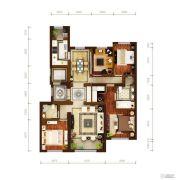 华润・橡树湾4室2厅2卫185平方米户型图