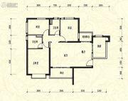 恒大新城3室2厅2卫126平方米户型图