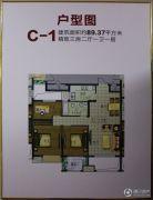 新杰新泽苑3室2厅1卫89平方米户型图