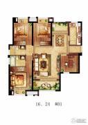 保利・香槟国际4室2厅2卫120平方米户型图