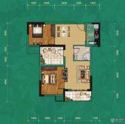 中建宜城春晓2室2厅1卫87平方米户型图