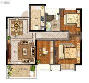 天地源拾锦香都3室2厅1卫98平方米户型图