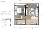 COSMO天廊1室1厅1卫59平方米户型图