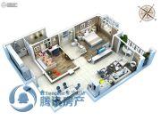 金石里巷3室2厅1卫99平方米户型图