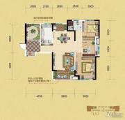 中铁逸都3室2厅1卫109平方米户型图