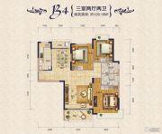 瀚海・御水兰庭3室3厅2卫129平方米户型图