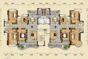 天明御华庭4室2厅3卫177平方米户型图