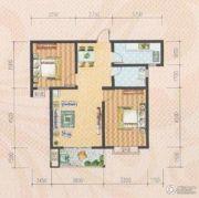 米苏阳光2室2厅1卫85平方米户型图