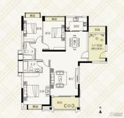 富力伯爵山3室2厅2卫129平方米户型图