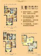 台山碧桂园4室2厅2卫197平方米户型图