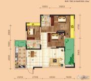 金鹏两江时光3室2厅2卫0平方米户型图