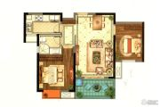 招商雍和府2室2厅1卫78平方米户型图