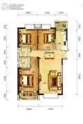 东方新城3室2厅2卫121平方米户型图