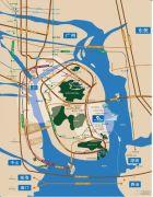 中交蓝色海湾交通图