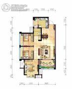 北京城建龙樾湾3室2厅1卫84平方米户型图