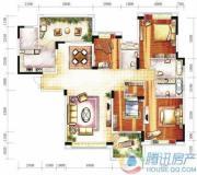雅居乐十里花巷4室2厅3卫193平方米户型图