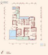 中建江山壹号3室2厅2卫232平方米户型图