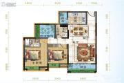 宜化绿洲新城2室2厅2卫108平方米户型图