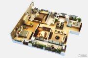 世茂香槟湖4室2厅2卫142平方米户型图
