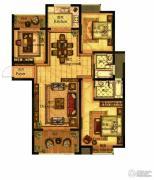 合力・铂金公馆3室2厅2卫122--123平方米户型图