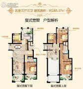 大美城5室3厅3卫285平方米户型图