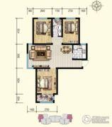 明瀚花香城3室2厅1卫110平方米户型图