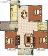 君悦国际花园3室2厅1卫124平方米户型图
