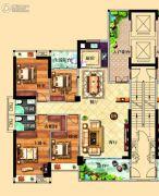 鸿泰华府4室2厅2卫168平方米户型图