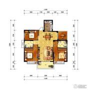 旺城天悦4室2厅2卫125平方米户型图