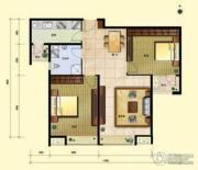 8哩岛2室2厅1卫89平方米户型图