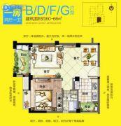 十里蓝山1室2厅1卫0平方米户型图