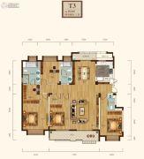 清江山水九程4室2厅3卫183平方米户型图